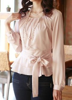 Stylish Tops For Girls, Trendy Tops, Trendy Fashion Tops, Trendy Tops For Women Stylish Tops For Girls, Trendy Tops For Women, Blouses For Women, Look Fashion, Fashion 2017, Womens Fashion, White Long Sleeve, Blouse Designs, Fashion Dresses
