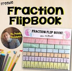 Included in this FREEBIE is a fraction FlipBook for students. I give this to my students as a reference tool. Build this with your students in one day, have them place it into their math folders for quick reference in the future when they may get stuck or 3rd Grade Fractions, Teaching Fractions, Fifth Grade Math, Math Fractions, Teaching Math, Equivalent Fractions, Grade 3, Multiplication Games, Fourth Grade