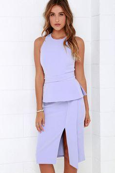 Keepsake Distance Lavender Midi Dress at Lulus.com!