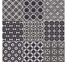 Baroque Black/Blue Decorative & Glazed | Porcelain Floor & Wall Tiles