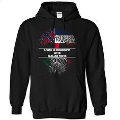 Living in MISSISSIPPI with Italian roots - #floral sweatshirt #sweatshirt print. MORE INFO => https://www.sunfrog.com/LifeStyle/Living-in-MISSISSIPPI-with-Italian-roots-Black-Hoodie.html?68278