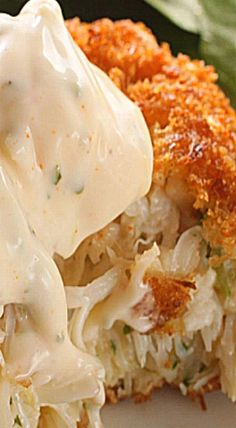 These are pretty much pure crab, bound with a little aioli, with a light coating of panko for a crispy coating.❊