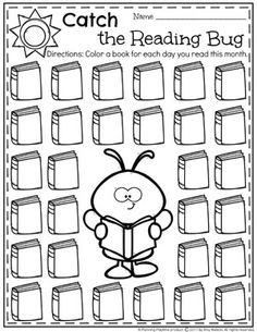 Summer Reading Chart - Catch the Reading Bug Reading Logs, Reading At Home, Kids Reading, Guided Reading, Kindergarten Reading, Reading Activities, Reading Lessons, Kindergarten Worksheets, Reading Incentives