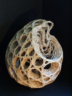'After Haeckel' by fiber artist Rachel Max. via Basketry Plus I love the drawings of Ernst Haeckel and they lend themselves to fibre art beautifully