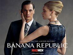 """The stereotype in this ad is That in order to be a """"Mad-Man"""" you need to wear Banana Republic. The ism in this ad is sexism because I only focuses on how to be """"MadMan"""" for men. The stereotype isn't hidden because in he title is says """" Introducing The Limited Addition Banana Republic MadMan Collection"""" In this image they use logos because the two main characters are two white people who maybe powerful & rich."""