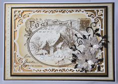 a vintage card for our christmas card club challenge