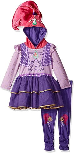 Genie Costume, Costume Dress, Cool Halloween Costumes, Halloween Outfits, Nickelodeon Girls, Hooded Dress, Girl Day, Dresses With Leggings, Toddler Girl