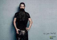 """Dalla campagna per la stampa """"For any hair type"""" di Garnier"""