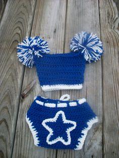 1df3a09ba422 @Amber Vaughn Crochet Dallas Cowboy Diaper Cover and Pom Pom by  Made4UByWendyLou, $24.99 Crochet