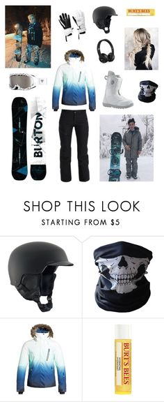 """Snowboarding pt 2 w/ The Dolan Twins"" by ceeeeee232 on Polyvore featuring Disney, Burton, BUFF and Burt's Bees"
