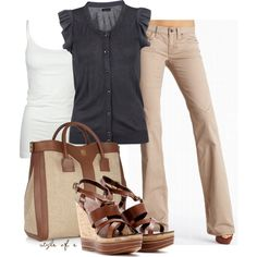 Fashionista Trends - Part 305 Mode Outfits, Casual Outfits, Fashion Outfits, Womens Fashion, Dress Casual, Outfits 2014, Fashion Blogs, Comfortable Outfits, Classy Outfits