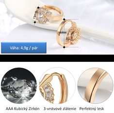 dámske náušnice   MARIONNE Black- náušnice - pozlátené - osadené zirkónom + čiernym zirkónom   anion.sk - šperky, darčeky, klenoty, firemné darčeky, firemné prezenty, luxusné perá, značkové perá, luxus, perá faber-castell, perá cross, Tony Perotti, zapisnik, zapisniky Krabi, Wedding Rings, Engagement Rings, Jewelry, Fashion, Luxury, Enagement Rings, Moda, Jewlery