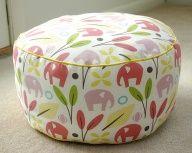 Tutorial: 1 yard pouf chair.  How cute  : )