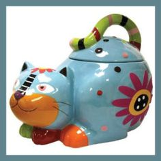 Westland Giftware Cozy Cat Ceramic Cookie Jars. This is just too adorable! The cat has a cheerful facial expression. It's deep enough to store lots of cookies. Only 2 left in stock – order soon. http://theceramicchefknives.com/ceramic-cookie-jars/