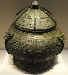 Bronze Bu (wine vessel), Shang Dynasty, circa 16th-11th centuries BC.