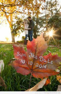 Invitation original mariager automne