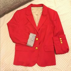 Banana republic blazer. Fitted pink blazer perfect for upcoming Spring season. Has seer sucker cuffs when rolled up for detail. Gold buttons along the sleeves.  New never got to wear ! this is more like a size small. Banana Republic Jackets & Coats Blazers