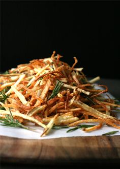 Perfect herbed crispy shoestring fries