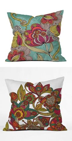 Indian Flowers Pillow