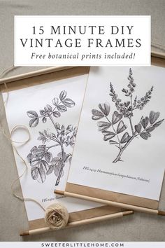 vintage diy Quick and easy DIY vintage poster frames - no construction required! Made with a wooden dowel and kraft paper, these simple frames are a unique way to display your wall art. Unique Wall Art, Diy Wall Art, Diy Wall Decor, Diy Framed Art, Simple Wall Art, Vintage Diy, Vintage Home Decor, Vintage Wall Art, Botanical Gallery Wall