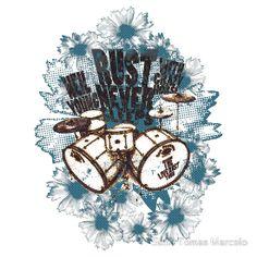 'Rust Retro ' T-Shirt by Sixto Tomas Marcelo Tshirt Colors, Wardrobe Staples, Female Models, Rust, Heather Grey, Classic T Shirts, Retro, Fabric, Cotton