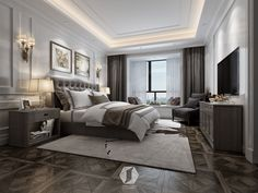 hotel bedroom The New Rules for Planning the Perfect Bedroom Plush Design Interiors Modern Classic Bedroom, Modern Luxury Bedroom, Modern Bedroom Design, Luxurious Bedrooms, Luxury Interior, Home Interior Design, Design Interiors, Luxury Bedrooms, American Bedroom