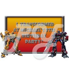 Transformers personalized party favor