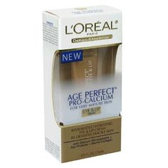 L'Oreal Age Perfect Pro-Calcium Eye and Lip Cream for Very Mature Skin, Tube Protein Plus, Soy Protein, Lipstick Primer, Makeup Lipstick, Hydrating Eye Cream, Eyeshadow For Brown Eyes, Eyes Lips Face, Lip Cream, Perfect Skin