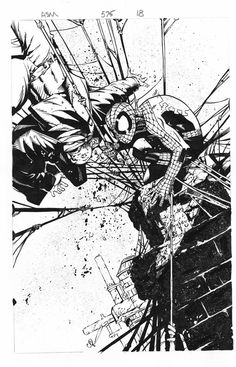 chris bachalo rough pencils | ink test chris bachalo by supernoobinks