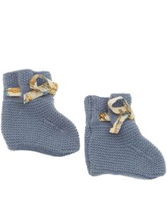 Liberty Print Age 0 to 12M Blue Cashmere Booties