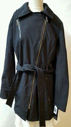 Avanit Black Short Raincoat Size 1X Water Resistant Lined Zippers Pockets  #Avanti #Raincoat #Business