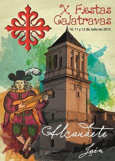 Cartel presentado a las X Fiestas Calatravas de Alcaudete (Jaén).
