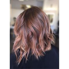 Peachy Rose Gold Balayage More