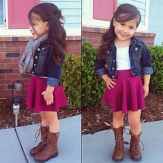 Little girl fall outfit