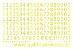 """Alphabet Sticker """"Eva"""" – gelb; Bogen 3 (1-0)"""
