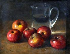 ANTONIO ASTURI - Natureza-morta - Óleo … Apple Painting, Apple Art, Still Life Photos, Van Gogh, Oil On Canvas, Contemporary Art, Fine Art, Fruit, Floral