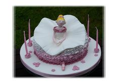 #Ballerina #Ballet #Birthday #Cake with #Cute #Ruffled Skirt! We love and had to share! Great #CakeDecorating!