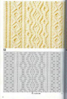 Книга: Араны спицами - 100 мотивов - Вяжем сети, спицы и крючок - ТВОРЧЕСТВО РУК - Каталог статей - ЛИНИИ ЖИЗНИ Cable Knitting Patterns, Knitting Stiches, Knitting Charts, Lace Knitting, Knitting Designs, Knitting Needles, Crochet Stitches, Knit Patterns, Knit Crochet
