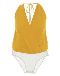 Body Cache-Coeur Yellow Andrea Marques