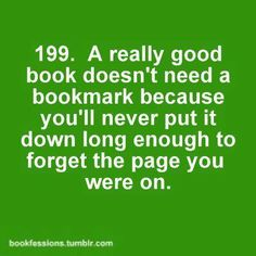 Bookworm's problem 199. I hate bookmarks, I use them only for books of more than 800 pages