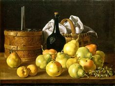 Luis Melendez Still Life with Pears, Grapes, Peaches and Receptacles, c. 1772 NGA