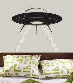 Alien Space Ship UFO Vinyl Decal Wall Graphics by por decomodwalls
