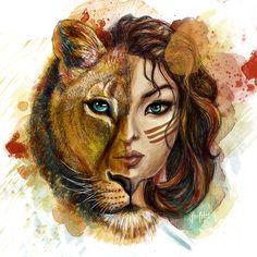 Signe Astro Lion, Lion Wallpaper, Tiger Art, Prophetic Art, Lion Art, Zodiac Art, Art Drawings Sketches, Cartoon Art, Cat Art
