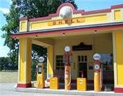 old gas stations - Shell