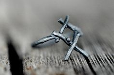 OTHALA Rune Ring sterling silver twigs  Heritage by redsofa, $80.00