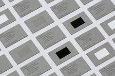 Brand identity and business cards for Azadeh Shladovsky by Two Times Elliott.