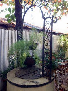 Aljibe antiguo en una casa de Asunción