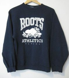 Roots Vintage Sweatshirt Women's Size M Large Logo Canada Sweatshirt Outfit, Sweater Outfits, Sweater Hoodie, Casual Outfits, Cute Outfits, Roots Clothing, Winter Fashion Outfits, Fasion, Overall