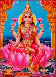 Lakshmi is the Hindu goddess of wealth, prosperity