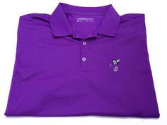 Nike Golf Dri-Fit XXL Mickey Mouse Disney Men's Short Sleeve Purple Polo 2XL #NikeGolf #PoloRugby